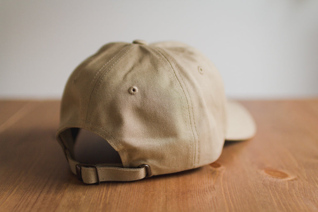 The Straight Edge Dad Hat in Khaki