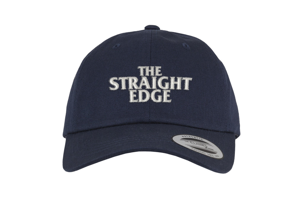 The Straight Edge strapback dad hat in navy