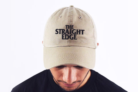 The Straight Edge Dad Hat in Stone