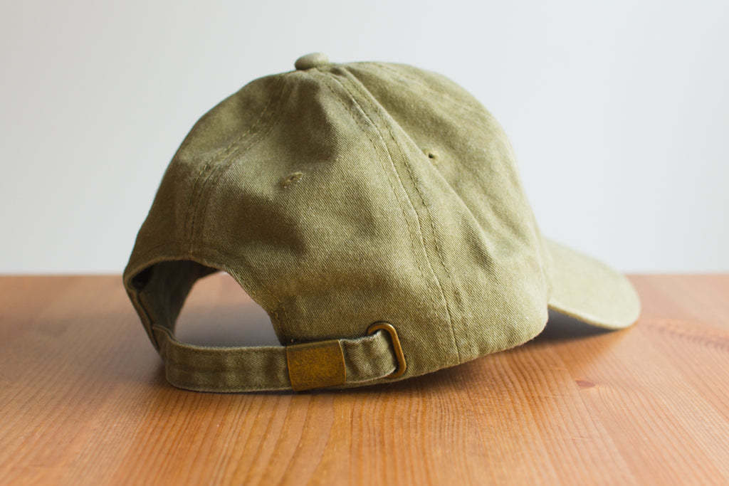 XIIICurse Straight Edge Dad Hat in Dyed Khaki