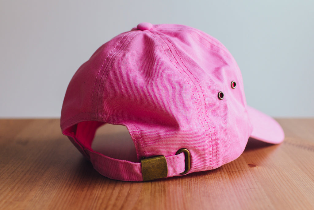 The Straight Edge Dad Hat in Pink