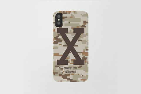 Desert Camo Straight Edge iPhone X Phone Case by STRAIGHTEDGEWORLDWIDE