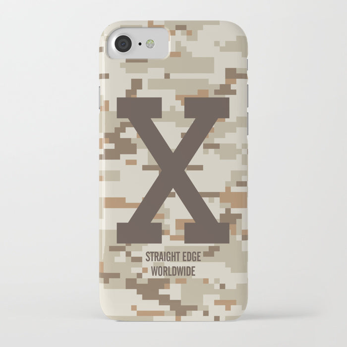 Desert Camo Straight Edge Phone Case