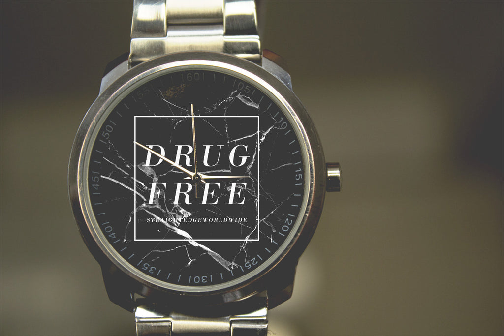 stainless steel drug free watch