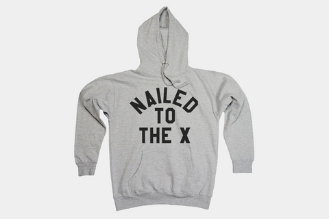 Nailed to the X Straight Edge hoodie in gray by STRAIGHTEDGEWORLDWIDE