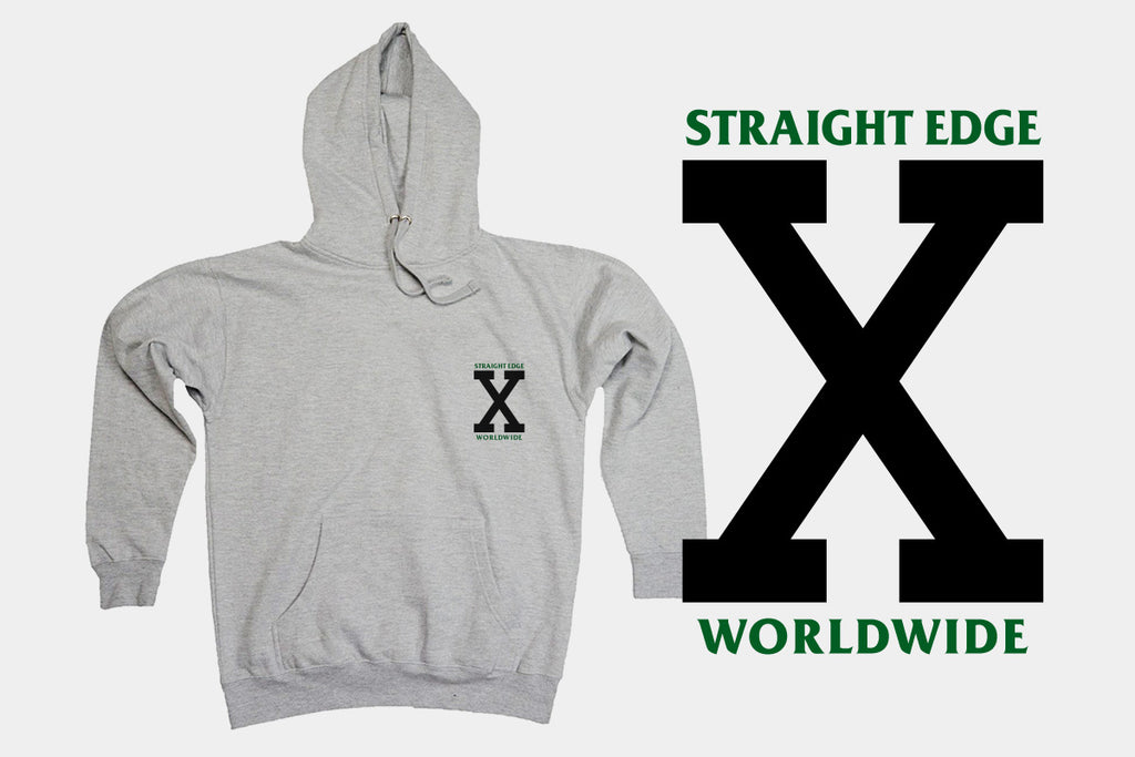 This Promise Crew Straight Edge hoodie in athletic heather sports gray by STRAIGHTEDGEWORLDWIDE