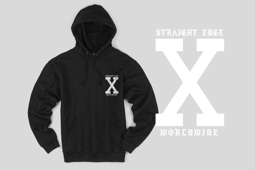 This x Promise Straight Edge Hoodie in Black by STRAIGHTEDGEWORLDWIDE