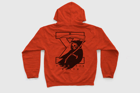 True Til Death Reaper Hoodie in Orange