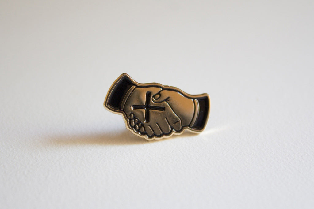 Straight edge lapel pin by STRAIGHTEDGEWORLDWIDE