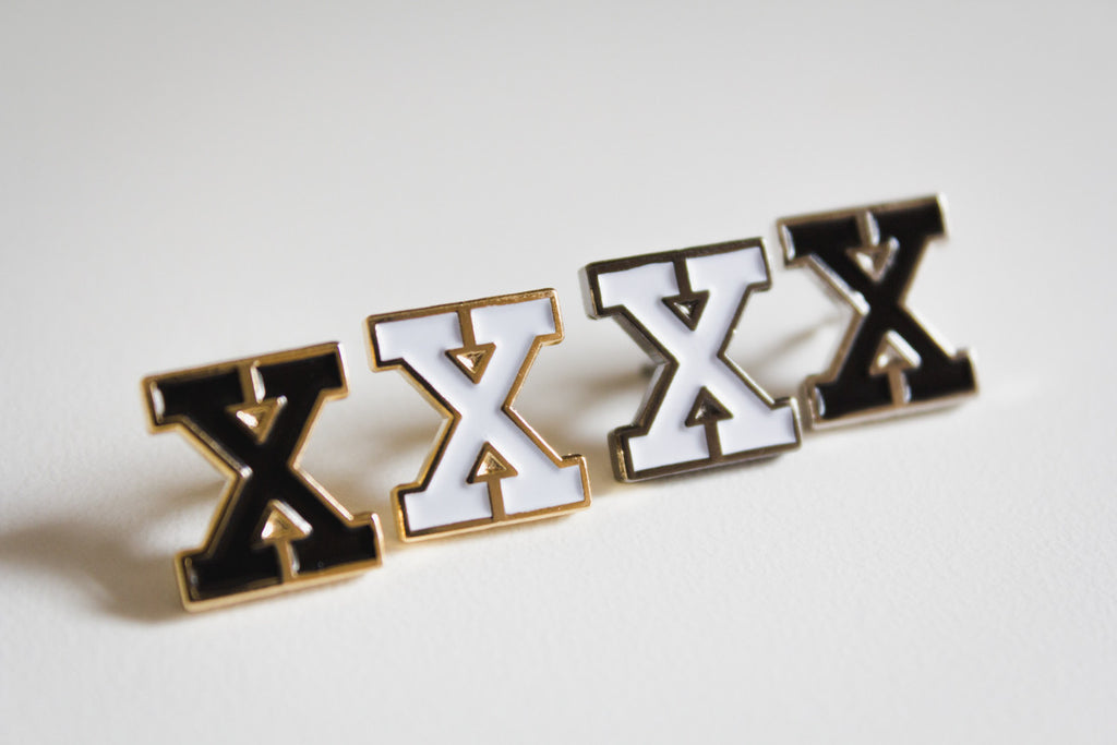 Straight Edge X Lapel Pins