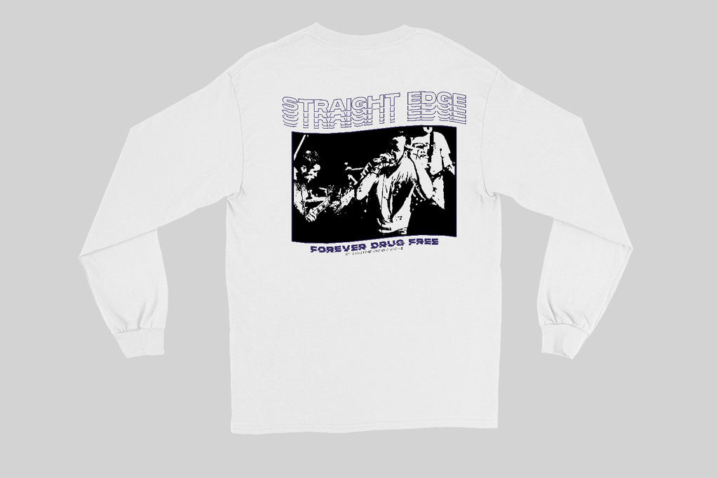 Straight Edge Drug Free Youth of Today T-shirt à manches longues ras du cou polaire