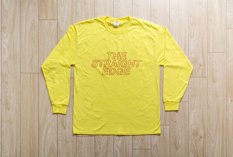 The Straight Edge Long Sleeve Tee in Yellow