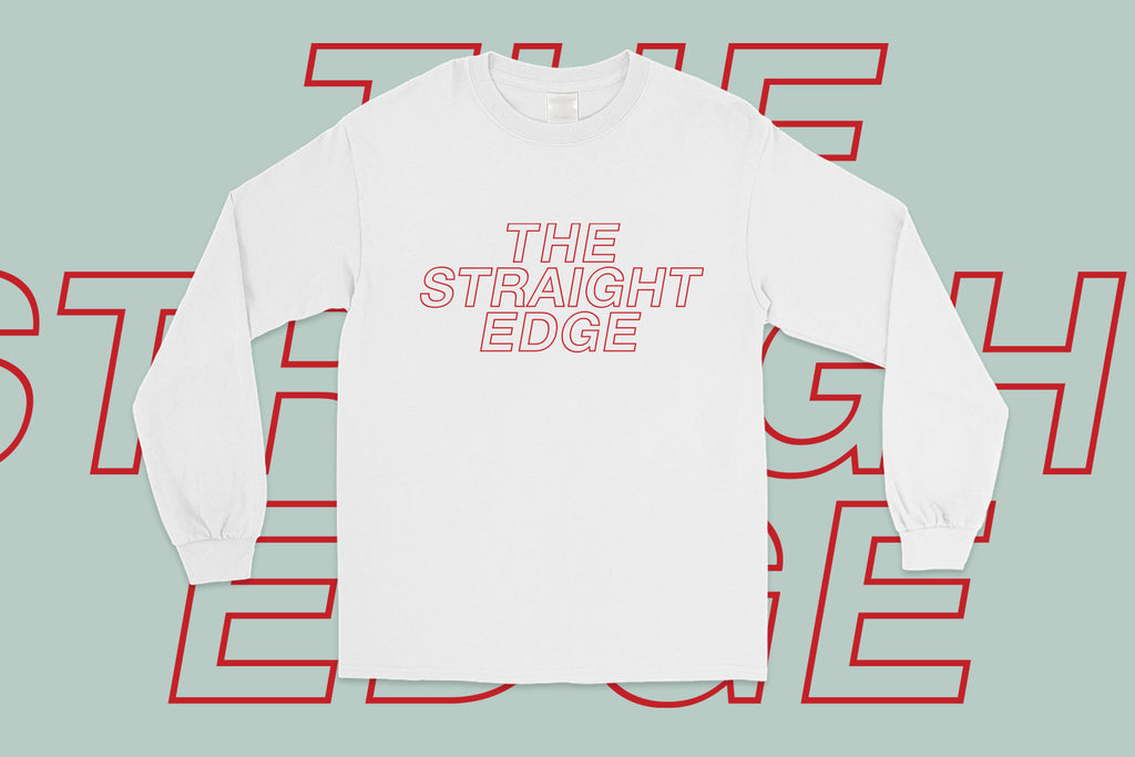 The Straight Edge Long Sleeve Tee in White