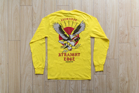 XIIICurse Straight Edge Eagle Long Sleeve Tshirt in Yellow by STRAIGHTEDGEWORLDWIDE