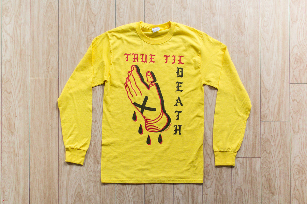 True Til Death Yellow Long Sleeve Tee