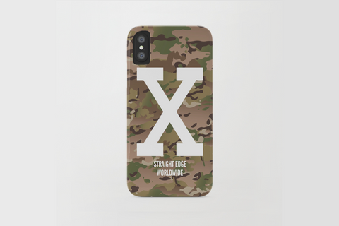 Multi Camo Straight Edge iPhone X Phone Case by STRAIGHTEDGEWORLDWIDE