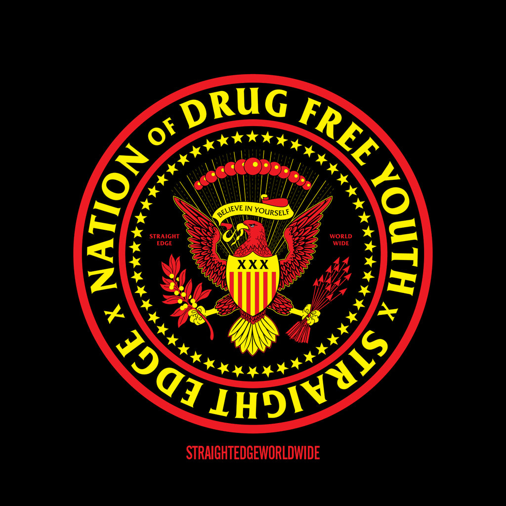 Nation of Drug Free Youth Straight Edge by STRAIGHTEDGEWORLDWIDE