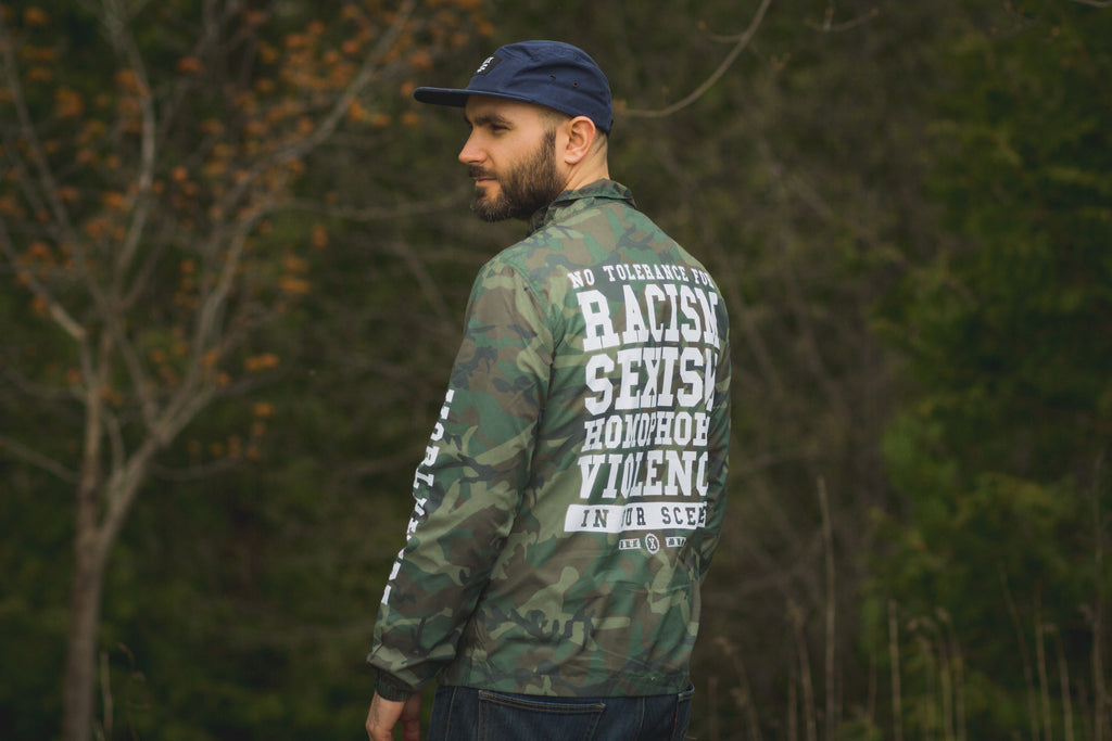 Anti Racist Straight Edge Jacket in Camo