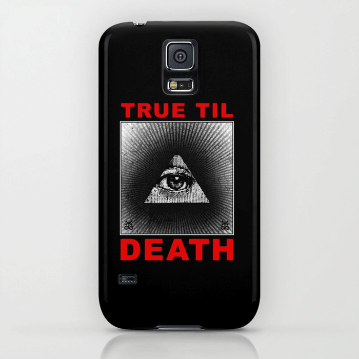All Seeing Eye Straight Edge phone case in black by STRAIGHTEDGEWORLDWIDE