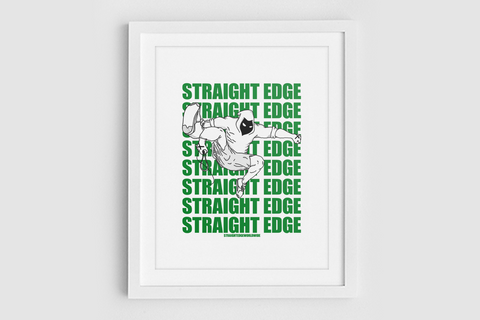 Punk Jump Straight Edge Print in White by STRAIGHTEDGEWORLDWIDE