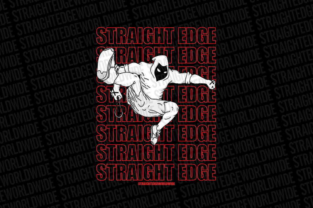Punk Jump Straight Edge Print in Black by STRAIGHTEDGEWORLDWIDE