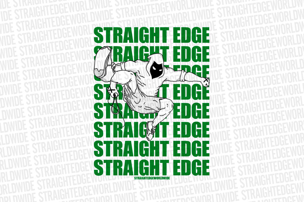Punk Jump Straight Edge Print in White