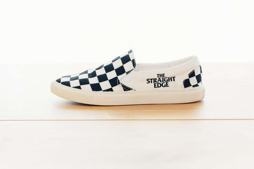 The Straight Edge Checkerboard Slip On Shoe by STRAIGHTEDGEWORLDWIDE