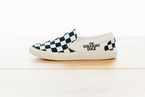 Ladies The Straight Edge Checkerboard Slip On Shoe by STRAIGHTEDGEWORLDWIDE