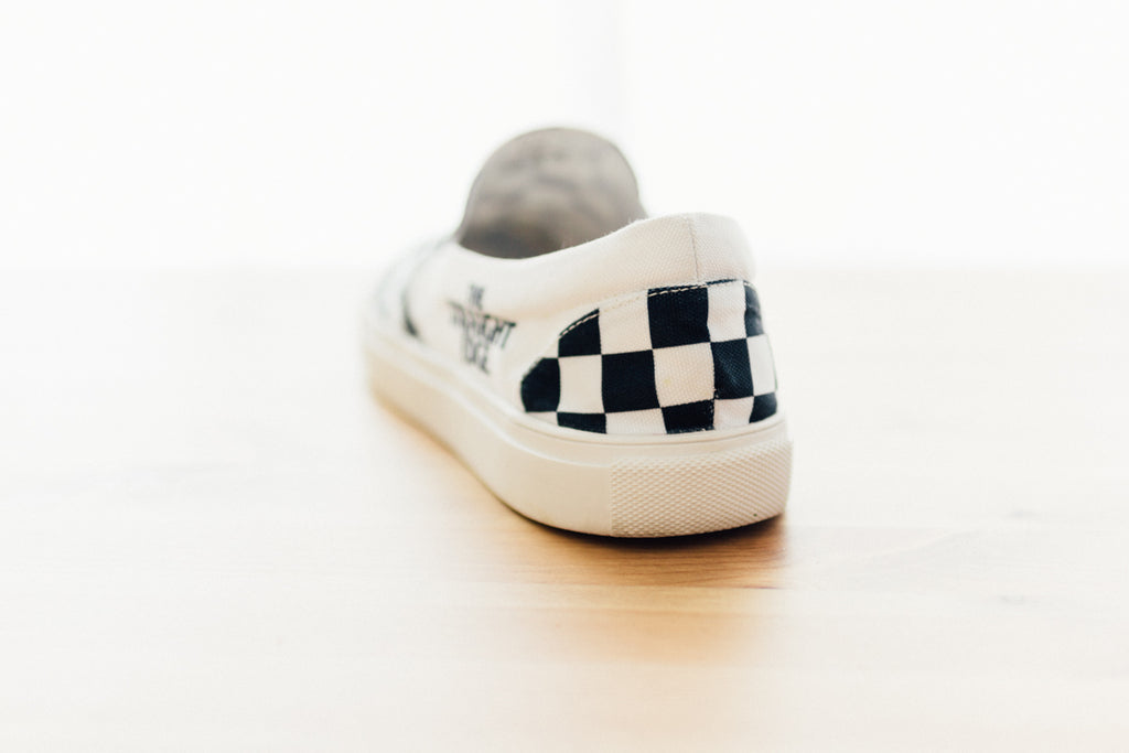 Ladies The Straight Edge Checkerboard Slip On
