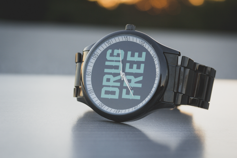 black stainless steel drug free Straight Edge watch in black by STRAIGHTEDGEWORLDWIDE
