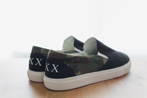 Straight Edge Camo Slip On