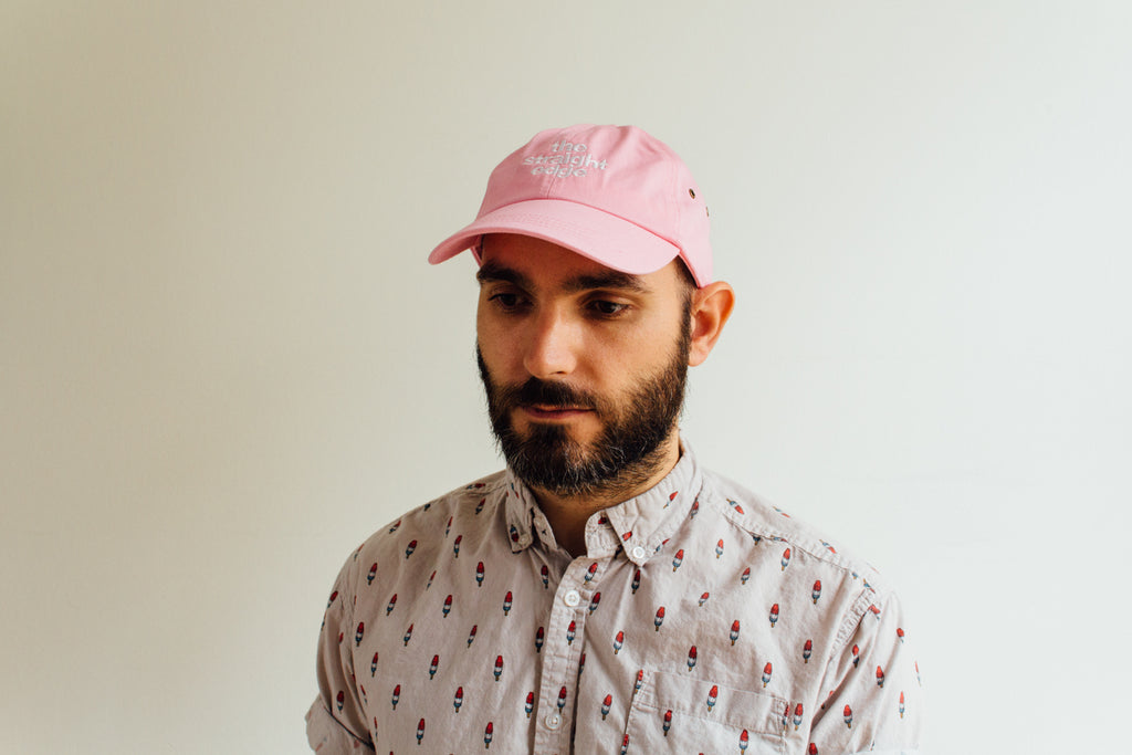 The Straight Edge drug free strapback dad hat in pink by STRAIGHTEDGEWORLDWIDE