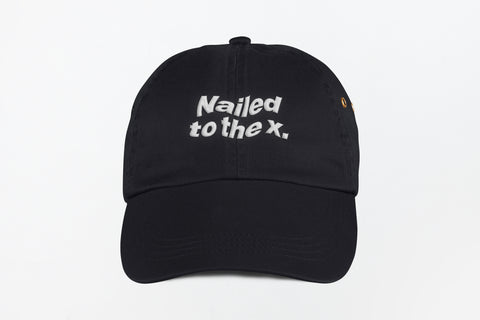 Nailed to the X Dad Hat in Black