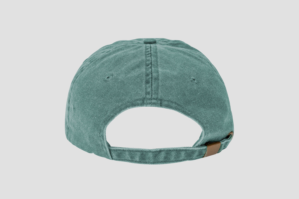 The Straight Edge Dad Hat in Forest Green