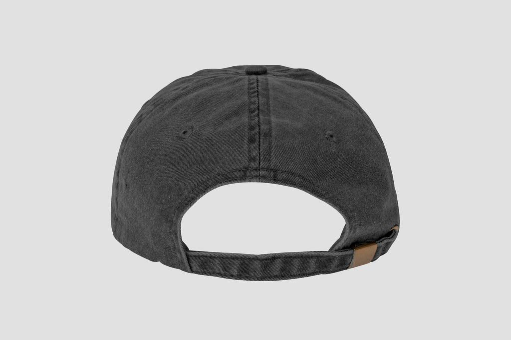 ca83129a44b6c The Straight Edge Dad Hat in Dyed Black – STRAIGHTEDGEWORLDWIDE