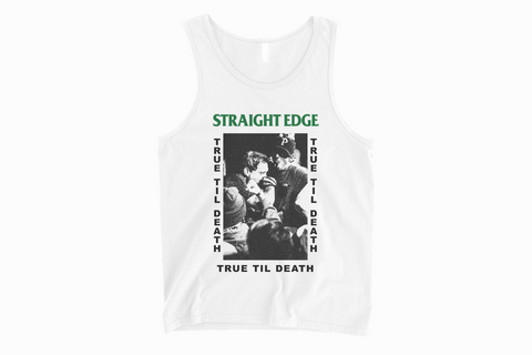 Old School Straight Edge Drug Free white tank top by STRAIGHTEDGEWORLDWIDE