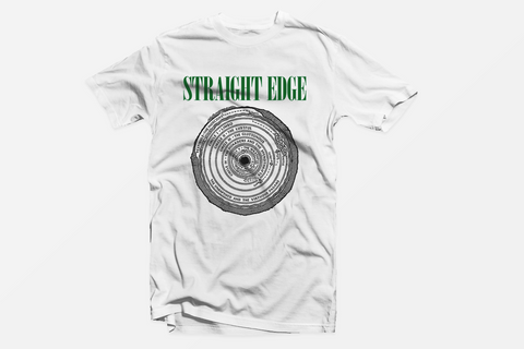 Circles of Hell Straight Edge white tshirt by STRAIGHTEDGEWORLDWIDE