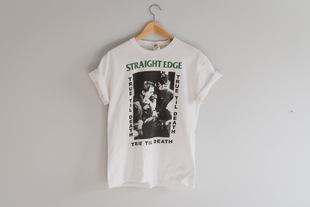 Old School Straight Edge Tee T-shirt by STRAIGHTEDGEWORLDWIDE