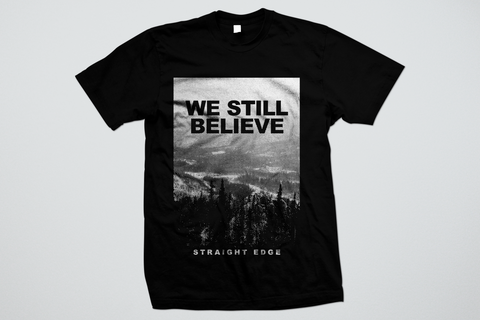 We Still Believe Straight Edge ladies tee shirt in black by STRAIGHTEDGEWORLDWIDE