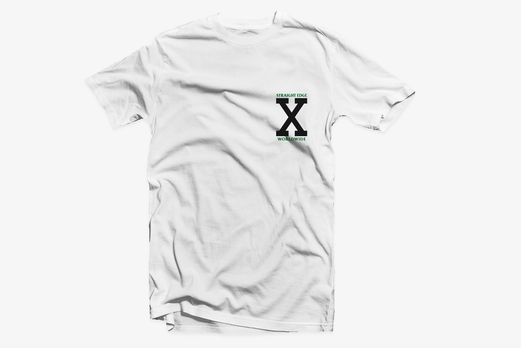 Ladies straight edge pocket tee shirt by STRAIGHTEDGEWORLDWIDE