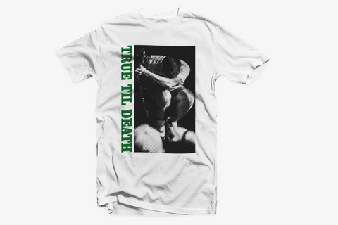 True Til Death Straight Edge tee in white by STRAIGHTEDGEWORLDWIDE