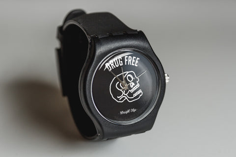 black drug free watch