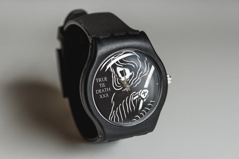 Black True Til Death Straight Edge watch by STRAIGHTEDGEWORLDWIDE