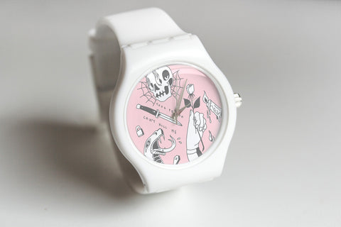 Pink Poison Free Straight Edge watch by STRAIGHTEDGEWORLDWIDE