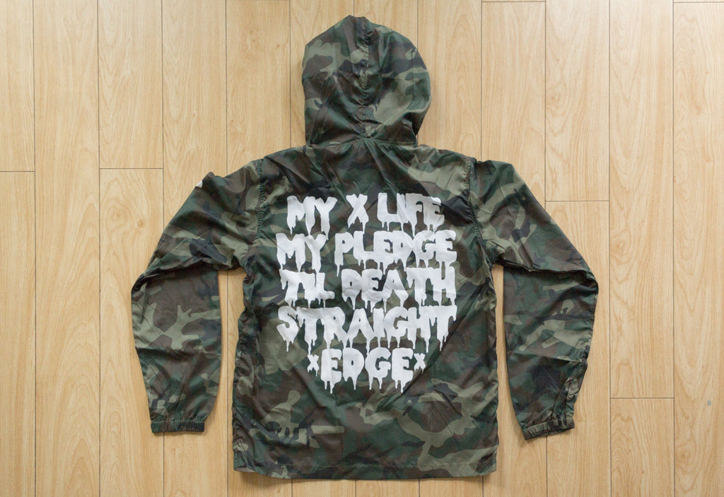Straight edge camo green windbreaker by STRAIGHTEDGEWORLDWIDE