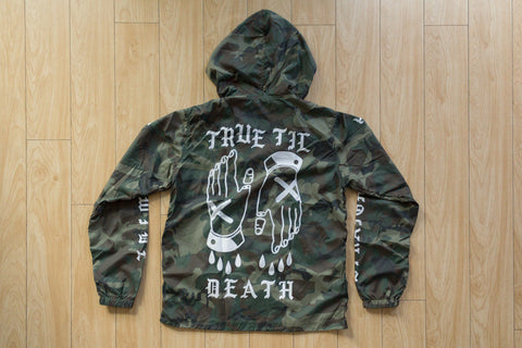 Ladies True Til Death Straight Edge windbreaker in camo
