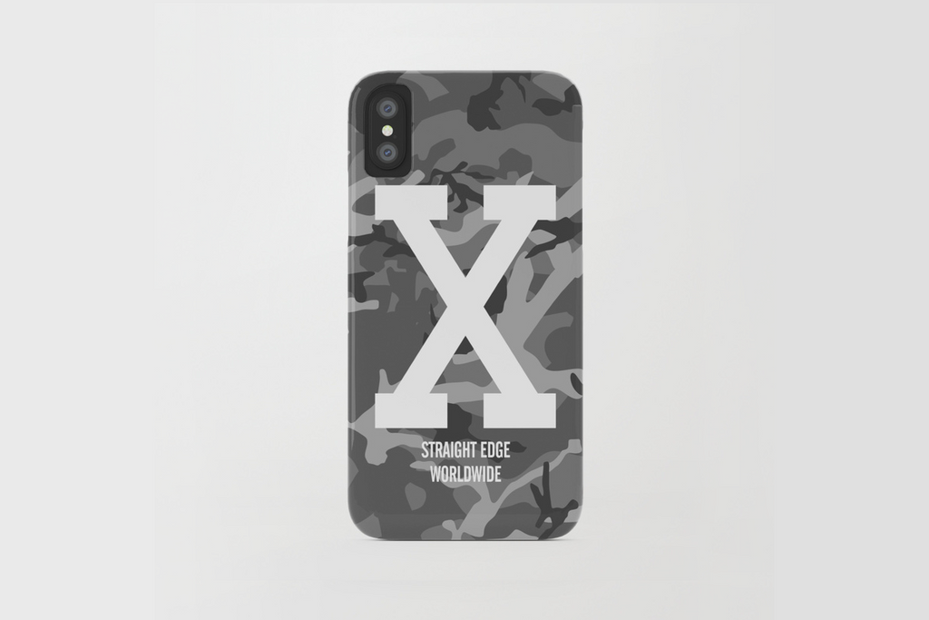 Winter Camo Straight Edge iPhone X Phone Case by STRAIGHTEDGEWORLDWIDE