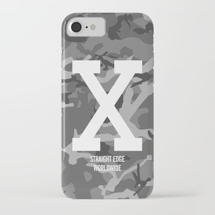 Winter Camo Straight Edge Phone Case