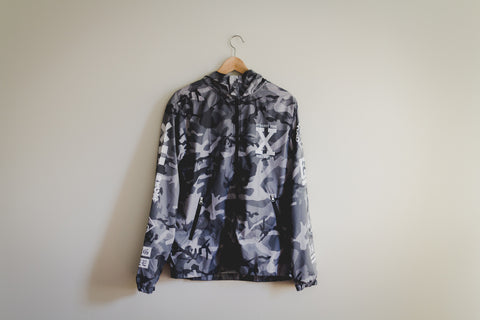Ladies Winter Camo Windbreaker