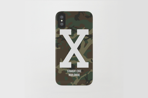 Woodland Camo Straight Edge iPhone X Phone Case by STRAIGHTEDGEWORLDWIDE